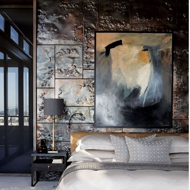Cape Town Penthouse.  Interior Design by cecile and boyd's. #bedroom #walls