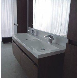 Vetto Double Wall Hung Vanity & Basin
