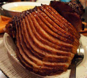 Honey Glazed Spiral Ham Recipe  use for baking, substitute mandarin oranges ground up, pineapple ground, and honey