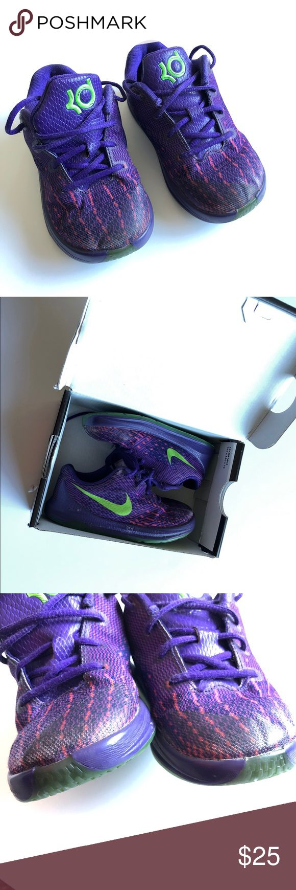 Nike Kd Sneakers Purple lace up sneakers shoe some wear will send with original box Nike Shoes Sneakers