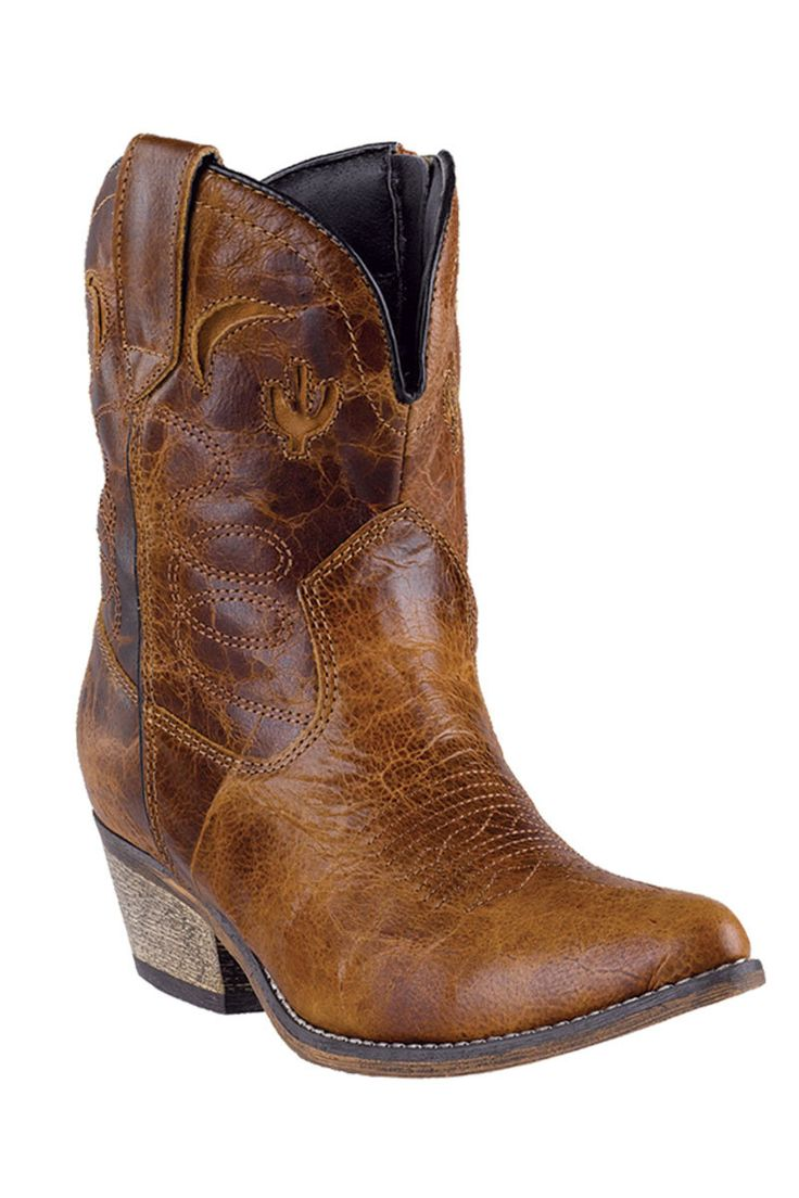Dingo Women's Adobe Rose Cactus Moon Ankle Cowgirl Boots