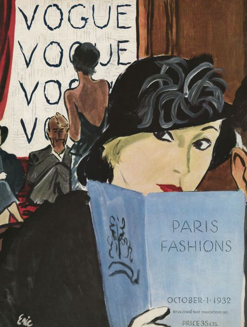 Nostalgia: The October 1, 1932, Vogue Cover. Illustrated by Carl Erickson.