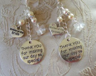 Swarovski bead & crystal Mother of the Bride/Groom thank you bouquet charm