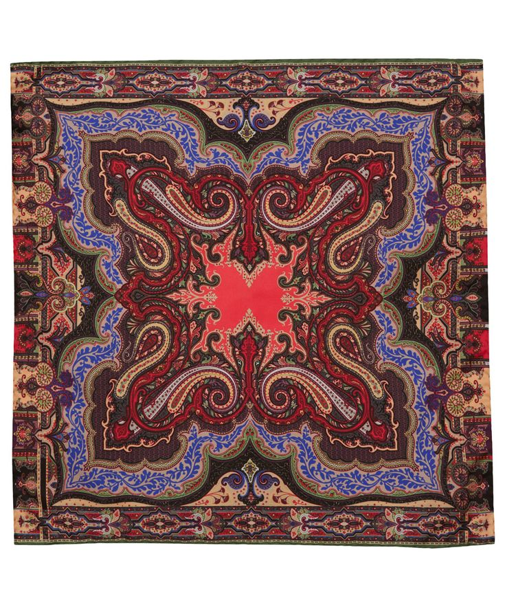 Purple paisley print silk scarf from the Etro collection. Give your look a sophisticated but colourful twist with a silk scarf from Etro featuring the Italian label's famed paisley prints in vivid tones. #AScarfADay