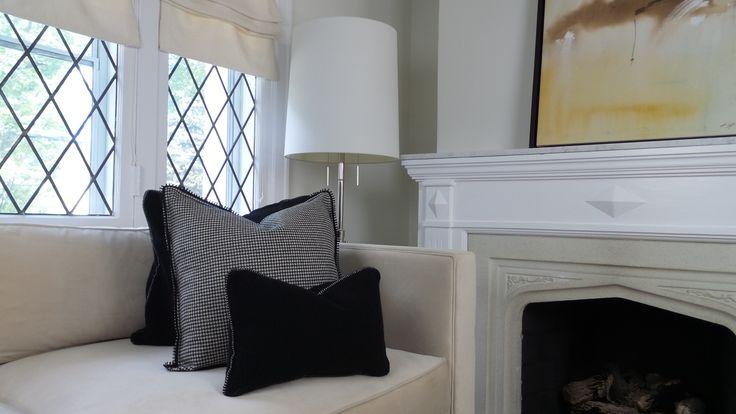 www.parkblvd.ca Black + Cream check pillow cashmere wool