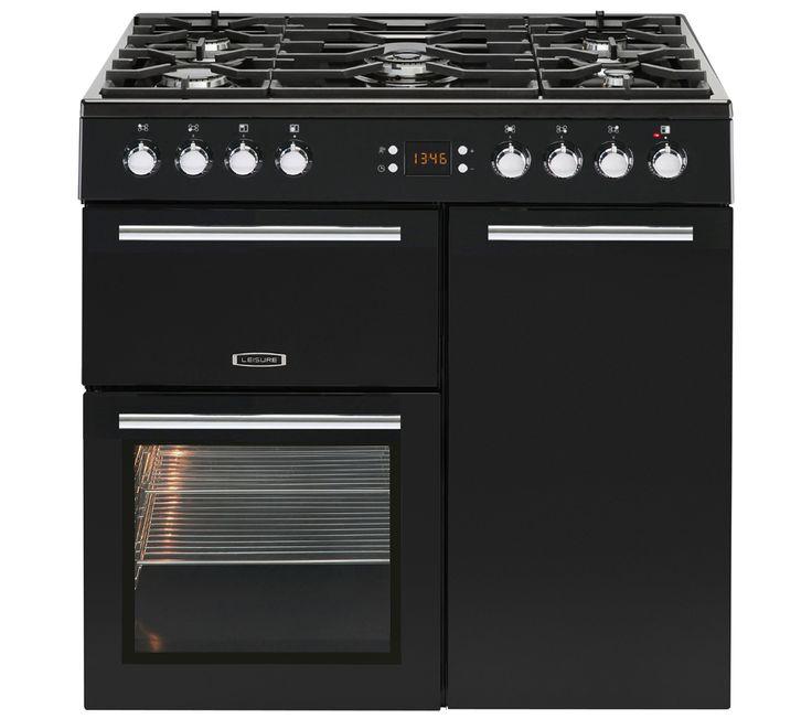 LEISURE AL90F230K Dual Fuel Range Cooker - Black