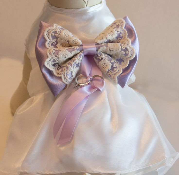 Lilac Dog dress, Dog ring bearer, Lilac pet Wedding accessory, Dog Clothing, Pet lovers, Proposal idea, Dog Lovers
