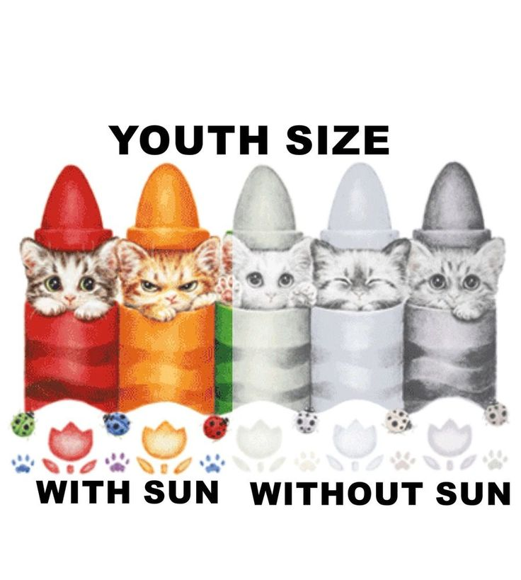 new uv color changing tee shirt all KITTEN CRAYONS sun boys girls tshirt beach #Unbranded #Everyday