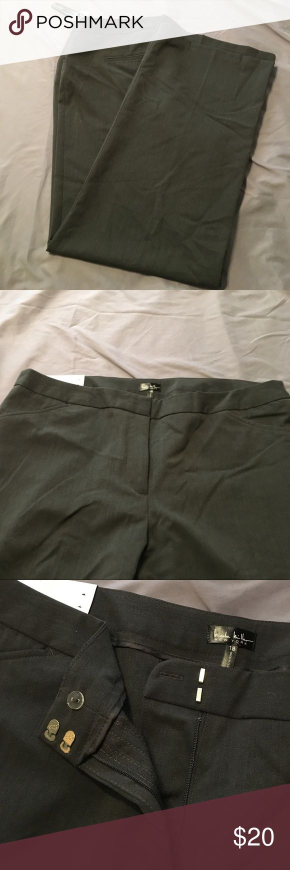 Dark Charcoal Heather Gray Trousers Dark gray classic Trousers. NWT Nicole Miller Pants Trousers