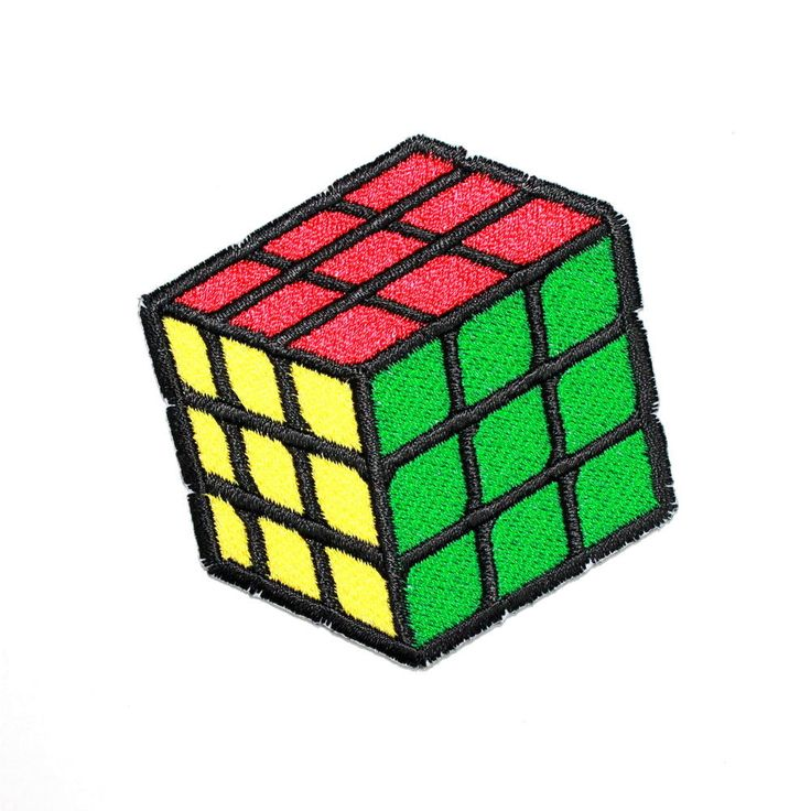 Rubik's Cube Magic Puzzle Game Toy cute Cool Kids Gift T-Shirt Cap Iron on patch #EmbroideredAppliqueMotifSewIrononPatch