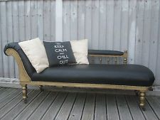 SHABBY CHIC FURNITURE ANTIQUE CHAISE LONGUE UPCYCLED WEDDING BEDROOM SOFA CHAIR