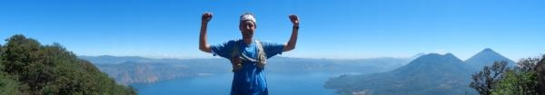 At the top on San Pedro Volcano overlooking Lake Atitlan.
