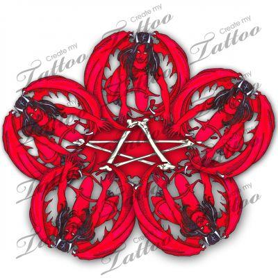 1000 images about devil tattoo designs on pinterest horns satan and jokers. Black Bedroom Furniture Sets. Home Design Ideas