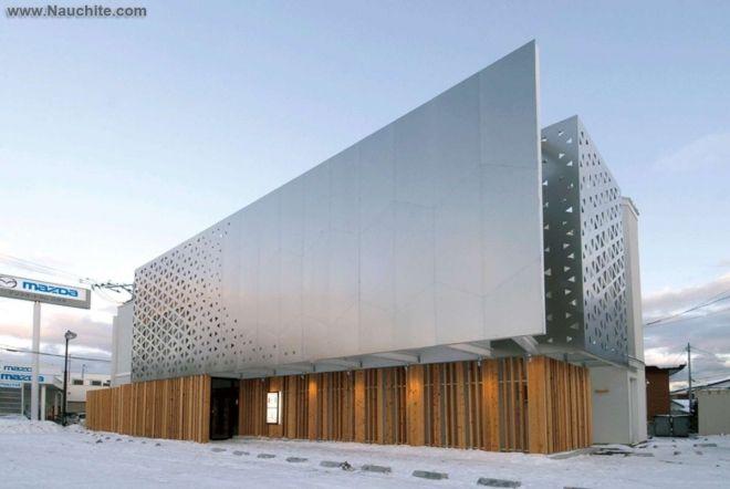 Оригинальные вентилируемые фасады - перфорированные фасады