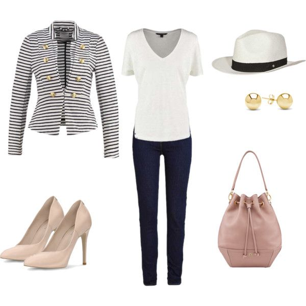 love stripes set 1 by colour-code on Polyvore featuring moda, Banana Republic and Jewelonfire