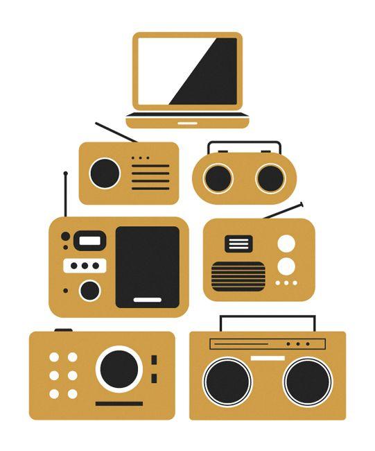 Trevor BassetInspiration, Picture-Black Posters, Laptops, Illustration, Posters Design, Radios, Graphics, Trevor Basset, Electronics Music Art