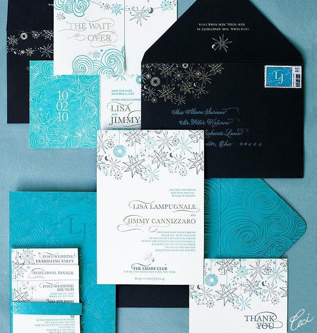 Luxury Wedding Invitations By Ceci New York: Lisa And Jimmy Daring Wedding Invitations, Ceci New York