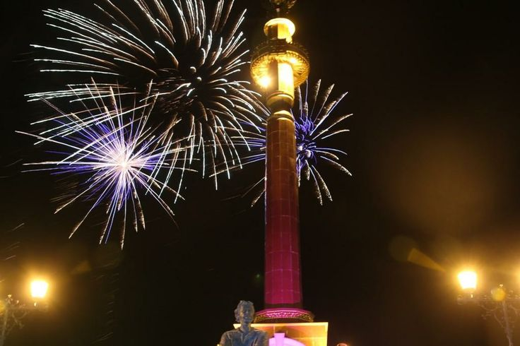 Fireworks over the city centre conclude the celebration of 8 september