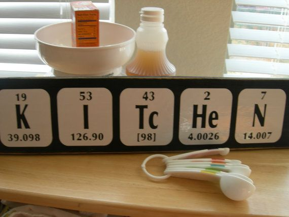 55 best periodic table images on pinterest periodic table humor kitchen sign periodic table of elements fun by theelegantwall urtaz Images
