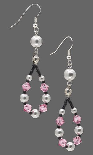 Earrings with SWAROVSKI ELEMENTS and Seed Beads - Fire Mountain Gems and Beads