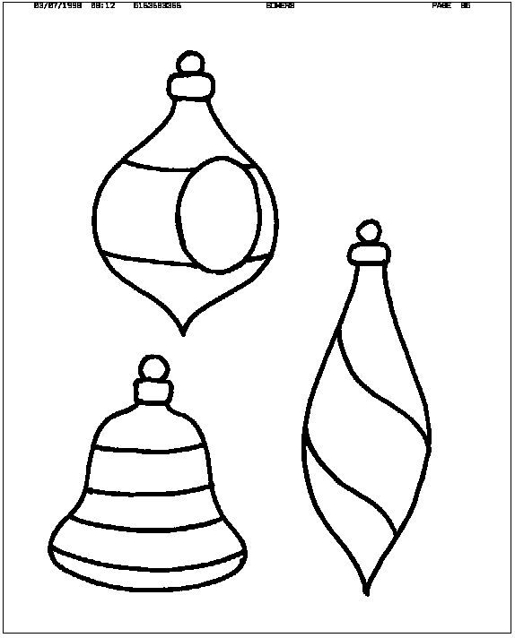 Free Christmas Ornament Template: Free Stained Glass Pattern Directory