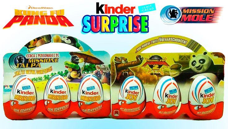 6 jaja niespodzianki Kung Fu Panda i Misja Krety kolekcja 2007 2011 rok