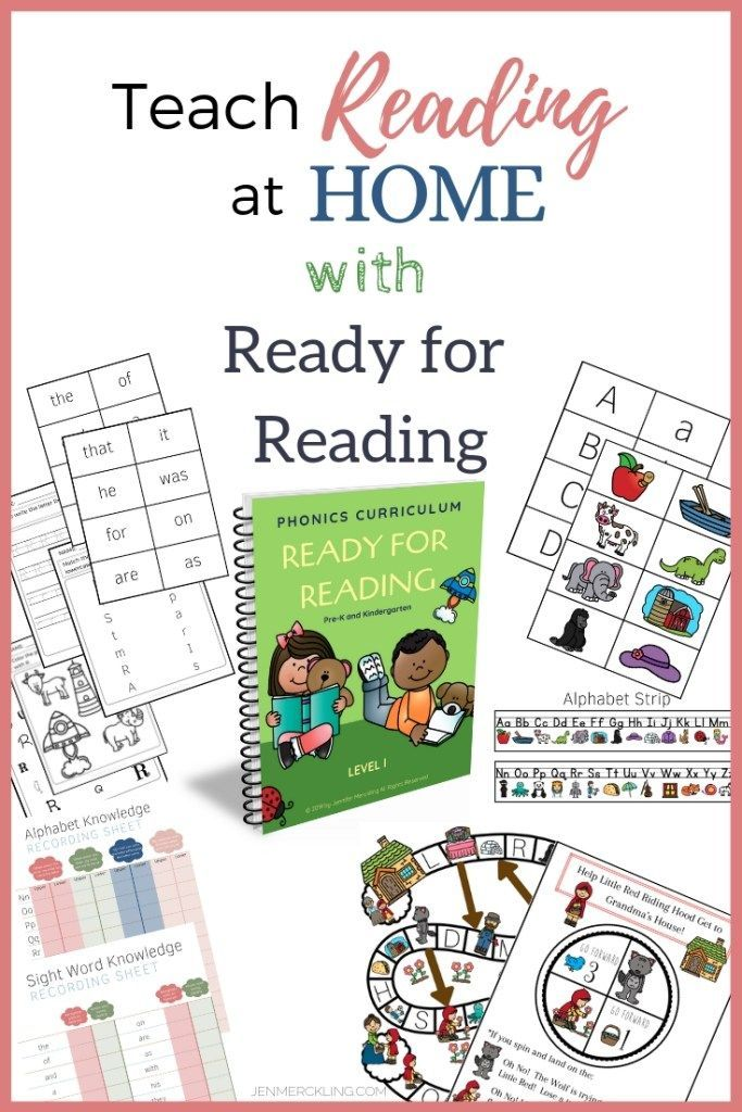 Teach Reading At Home With Ready For Reading Homeschool Phonics Teaching Reading Reading At Home How to teach my kindergartener at home
