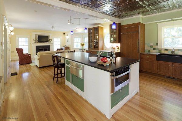 Desain dapur minimalis terbuka modern