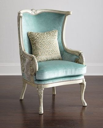 Silver Damask Chair by Massoud at Neiman Marcus.
