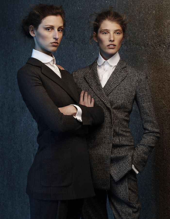 Gentlemanly does it; This winter, women's tailoring takes inspiration from Savile Row, with mannish staples giving a fashionable edge to an eminently wearable working wardrobe. Styling by Damian Foxe.