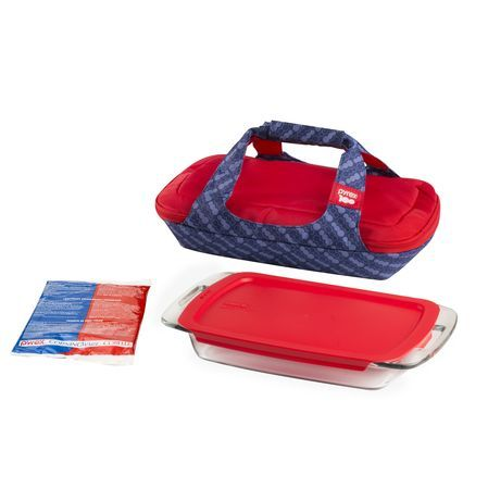 If you're on the go, go with this Pyrex® Portables® set. It keeps hot foods hot, cold foods cold...