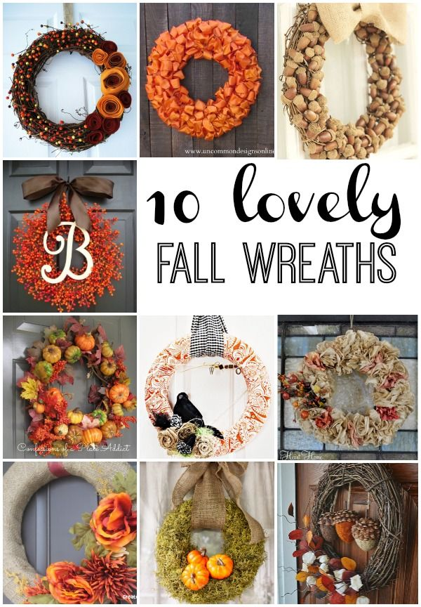 10 Lovely Fall Wreaths - Reasons To Skip The Housework