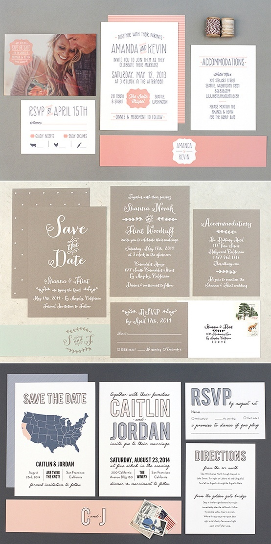 are labels on wedding invitations tacky%0A Cute invites and save the dated