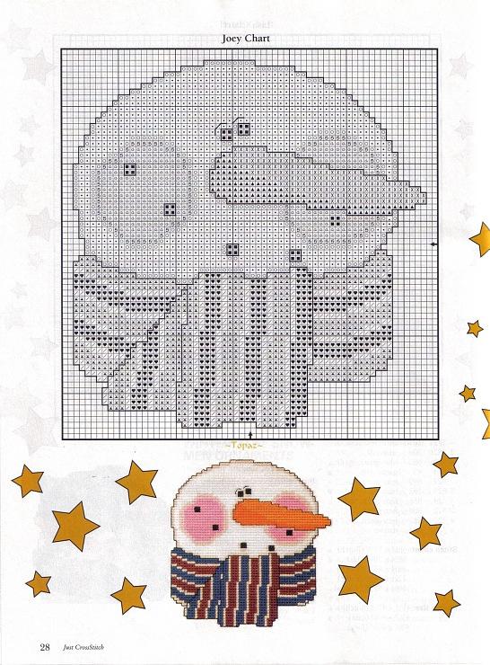 Winter Fun Snowmen Ornaments, plastic Canvas, page 2/6