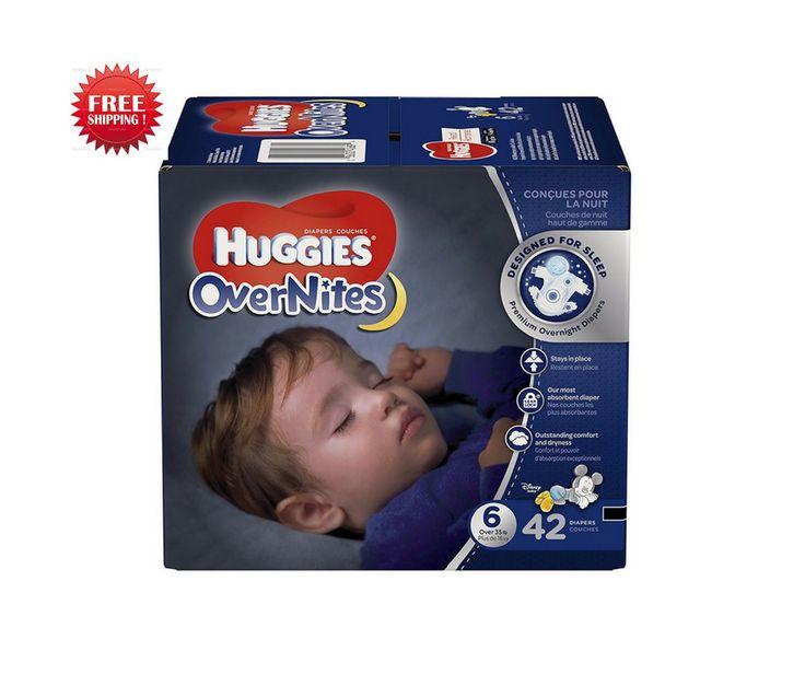 Diapers  Huggies Overnites Diapers, Size 6, 42 Count  #Huggies