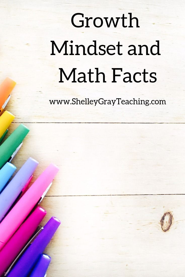Growth Mindset And Math Facts Success For Every Student Math
