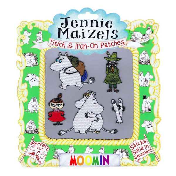 Embroidered Moomin patches by Jennie Maizels features Moomintroll, Snorkmaiden, Little My, Snufkin and Hattifatteners. Iron-on AND stick-on patches can be used
