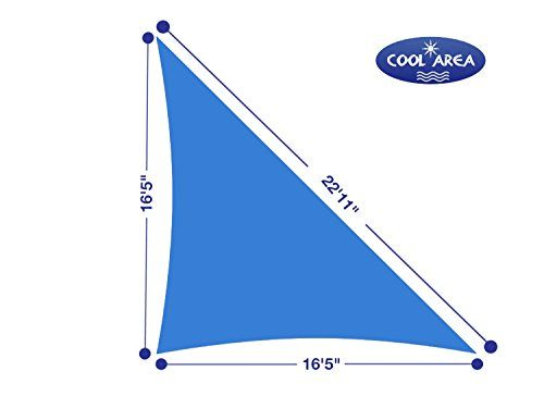 Cool Area Right Triangle 16'5'' X 16'5'' X 22'11'' Sun Shade Sail with Stainless Steel Hardware Kit, UV Block Fabric Patio Patio Shade Sail in Color Blue, furniture Cool Area http://www.amazon.com/dp/B00J2KGV52/ref=cm_sw_r_pi_dp_wQejwb19B2GYM