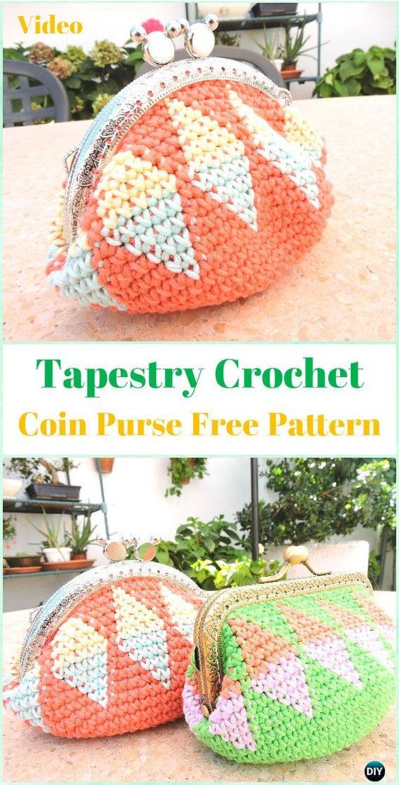 Michelle Crochet Passion: Tapestry Crochet Coin Purse Free Pattern