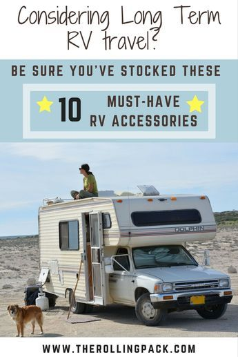 As full time RV lifers we could not live without these 10 must have RV accessories! Click visit to read more! #rvaccessories #rvlifestyle #camperlife #rvhacks #rvlife #motorhome