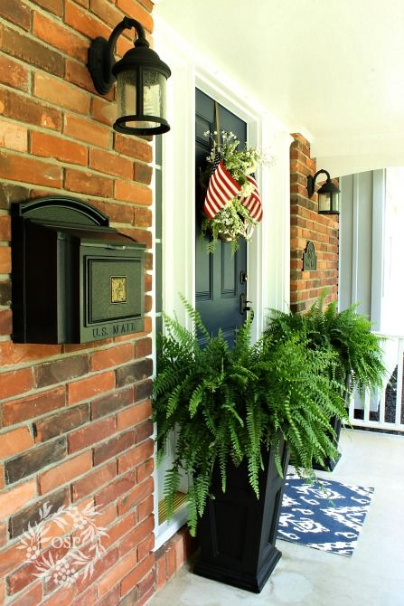 Summer Front Porch - Planters...My husband and I are so going to TRY to make these haha I love how they look!