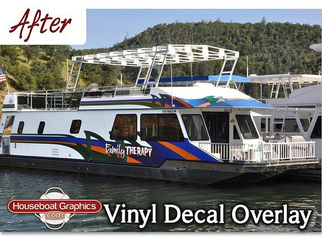 Best Striping Decals For Your Boat Or Houseboat Images On - Custom houseboat vinyl numbers