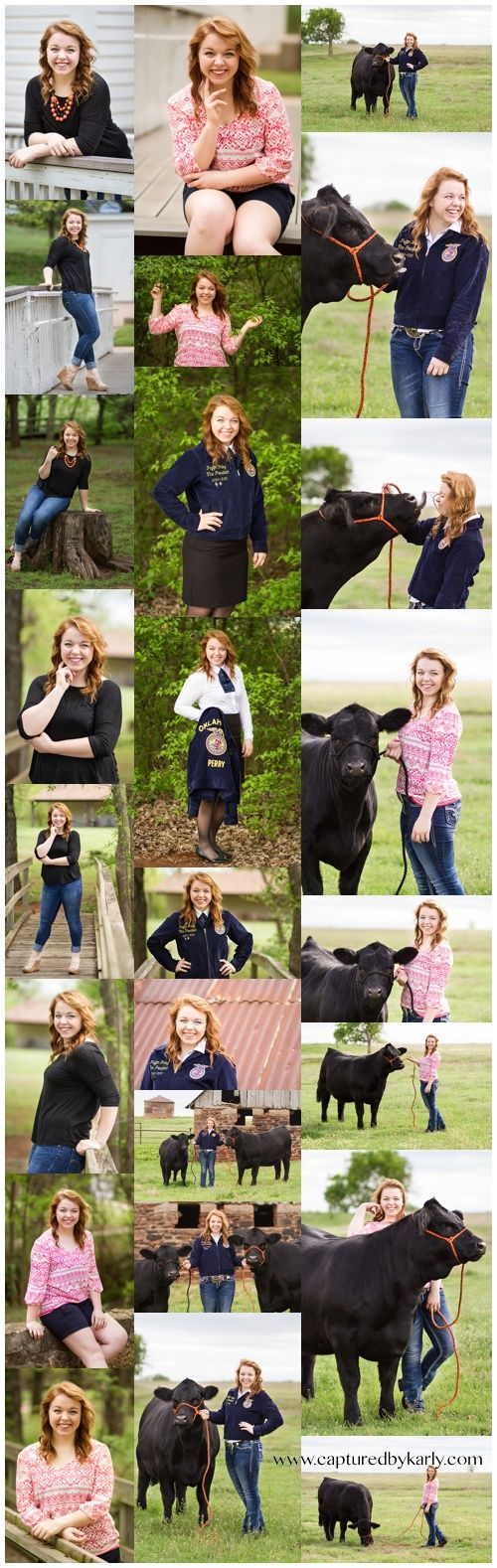Senior girl portrait poses - Livestock Senior pictures - FFA Senior pictures - Perry Oklahoma Senior Photographer - Captured By Karly