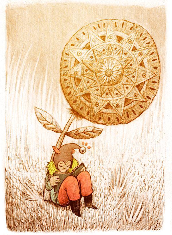 Shhh! Silencio… enano leyendo (ilustración de Juan Useche)