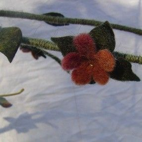 Hand Felted Dragonfly Branch Mobile by orangeiron on Etsy