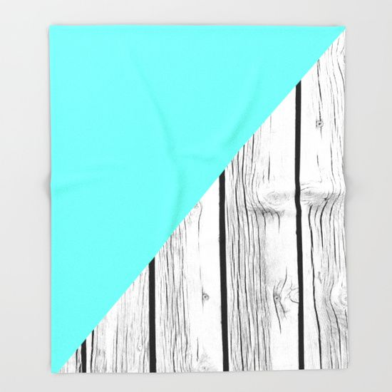 Aqua Blue vs Old Weathered Wood Throw Blanket by ARTbyJWP #blankets #throwblankets #bedroom #homedecor #wood  --  Our seriously soft throw blankets are available in three sizes and feature vividly colored artwork on one side. Made of 100% polyester and sherpa fleece, these might be the softest blankets on the planet, so get ready to cozy up. They can be machine washed separately with cold water on gentle cycle. Tumble dry on low heat setting. Do not iron or dry clean.