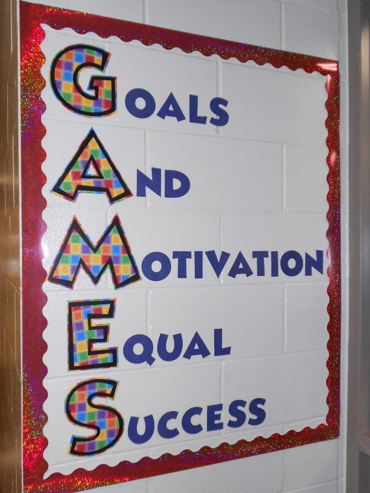 Classroom Decoration Games Free ~ Motivational bulletin boards for work goals and