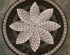 IML: Flower mosaic design. Lovely inspiration for my patio...