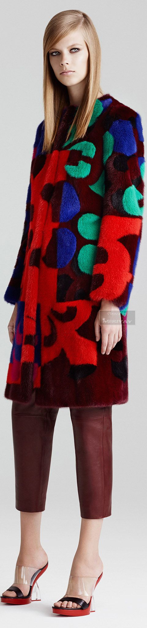 Courtney - or this coat which could be worn over many colours. Alexander McQueen Resort