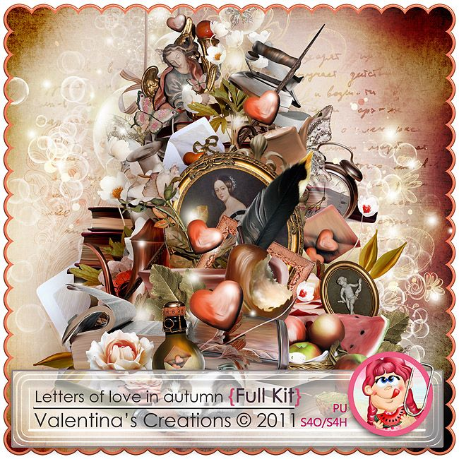 Letters of Love in Autumn {Kit} by Valentina's Creations